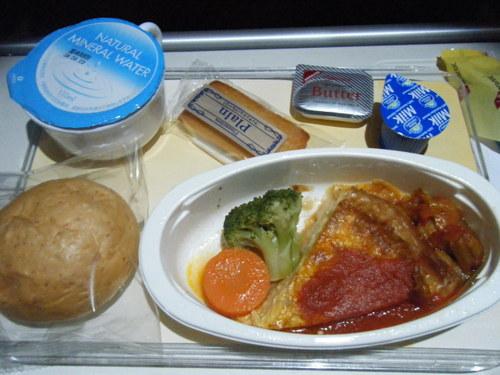 機内食 朝食(野菜のキッシュ)